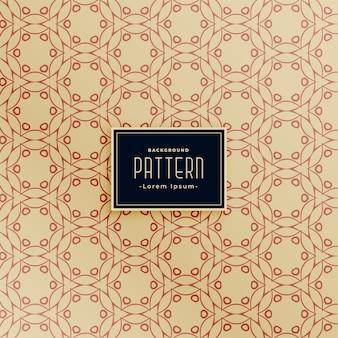 Design de padrão de tecido em estilo círculo abstrato