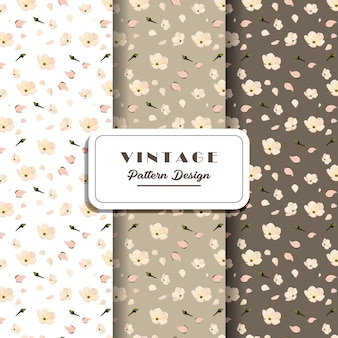 Design de padrão digital sem costura vintage
