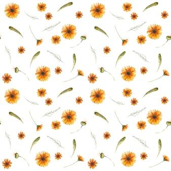 Design de padrão floral sem costura