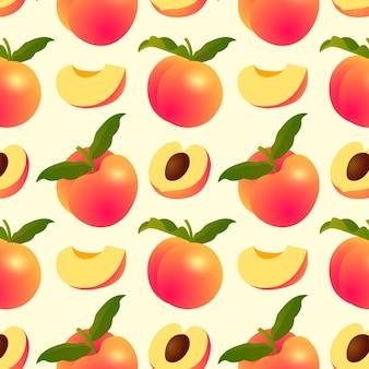 Design de padrão gradiente de pêssego