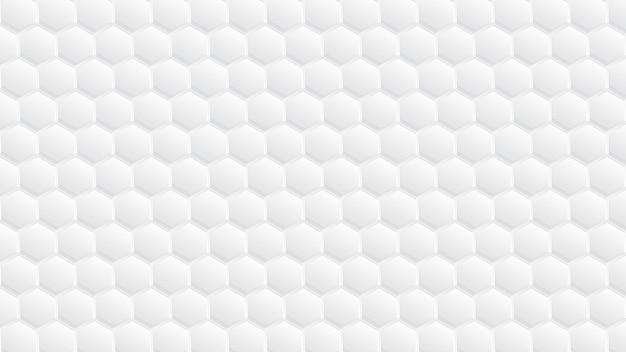 Design de padrão hexagonal 3d abstrato branco