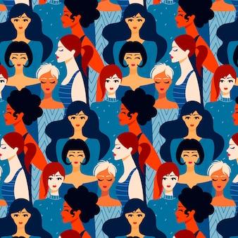 Design de padrão para o dia das mulheres