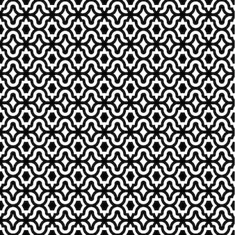 Design de padrão preto e branco clássico de luxo