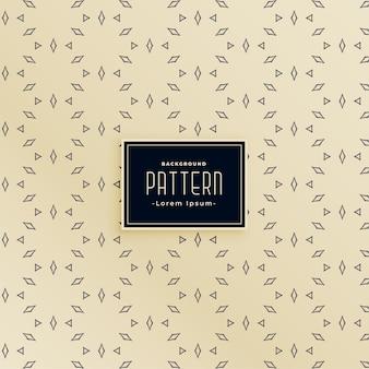 Design de padrão sem costura de linha decorativa em forma de diamante