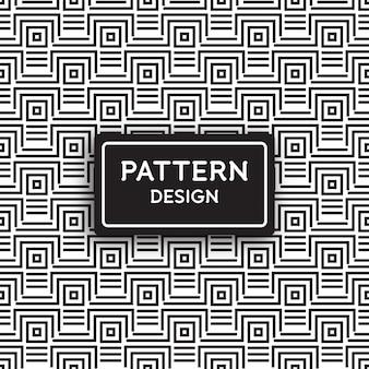 Design de padrão sem costura - linhas geométricas e formas quadradas