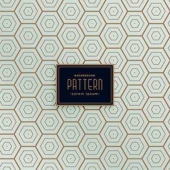 Design de padrão sem emenda de linha hexagonal