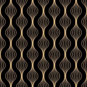 Design de padrão sem emenda de linhas de arte deco