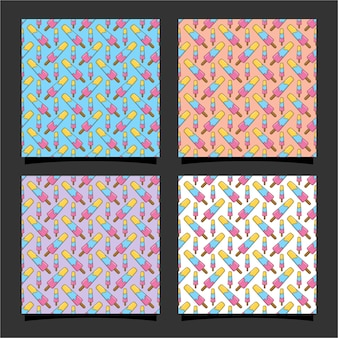 Design de padrão sem emenda de sorvete 01