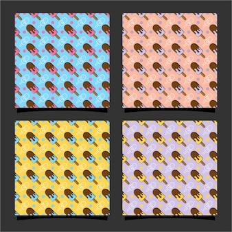 Design de padrão sem emenda de sorvete 02