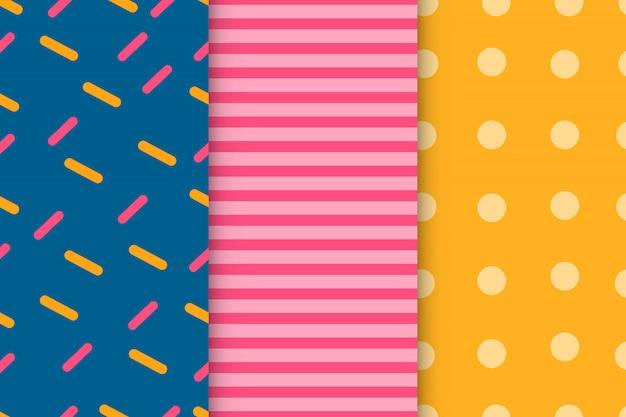 Design de padrões geométricos abstratos de coleção de pacote