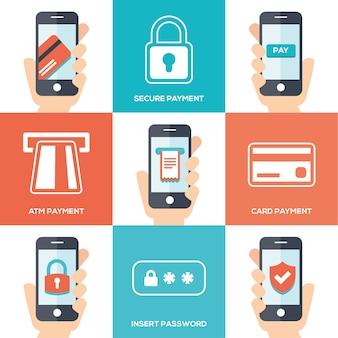 Design de pagamento de telefone móvel