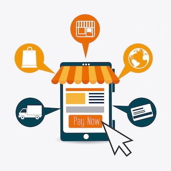 Design de pagamentos online.
