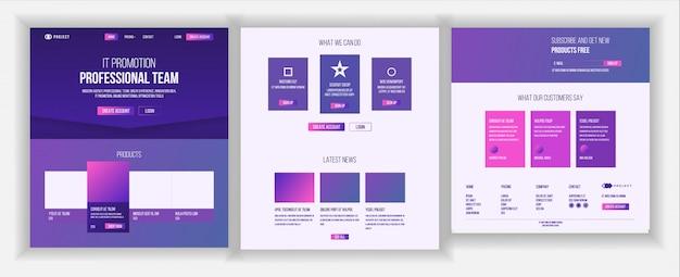 Design de página da web