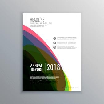 Design de página de capa da revista escritório corporativo elegante no tamanho de impressão a4