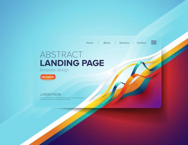Design de página de destino abstrata