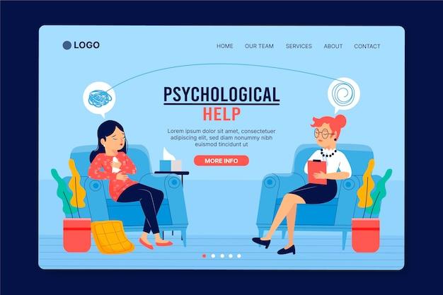 Design de página de destino de ajuda psicológica