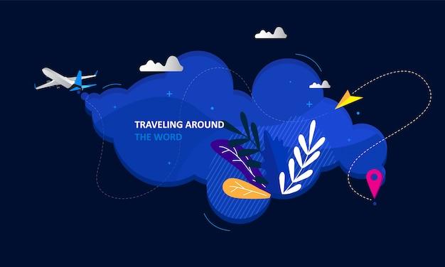 Design de página de destino de negócios de viagens on-line