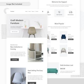 Design de página de destino de venda de móveis
