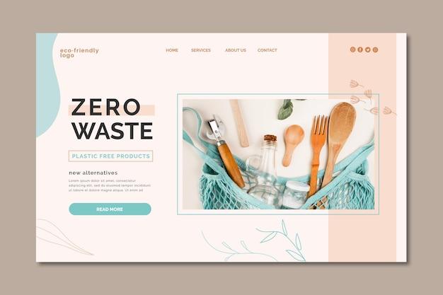 Design de página de destino sem desperdício