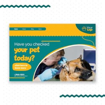 Design de página de destino veterinária