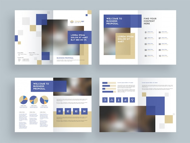 Design de páginas de capa de brochura de negócios.