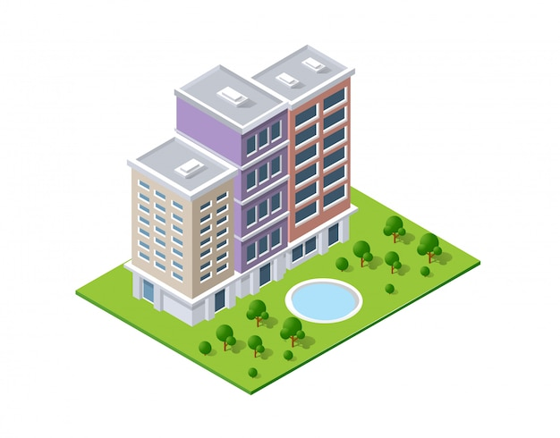 Design de paisagem isométrica
