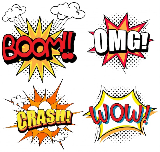 Design de palavras de expressão para quatro palavras
