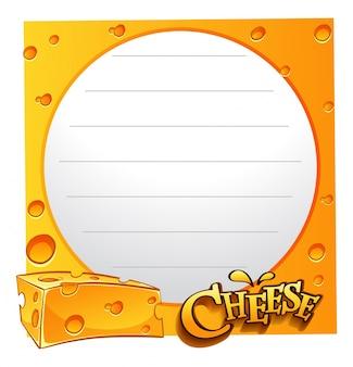 Design de papel com queijo