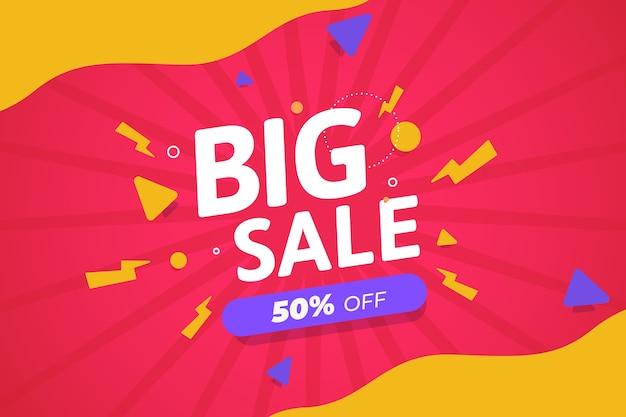 Design de papel de parede colorido abstrato de vendas promocionais