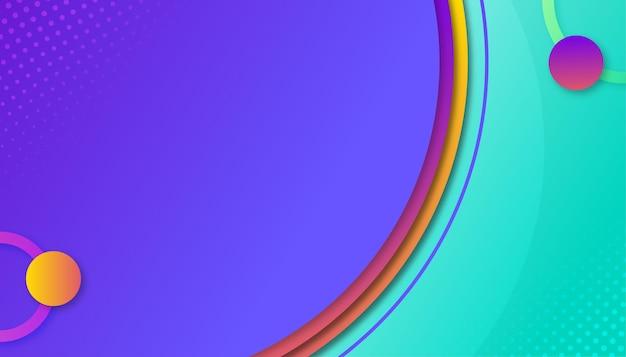 Design de papel de parede colorido e elegante