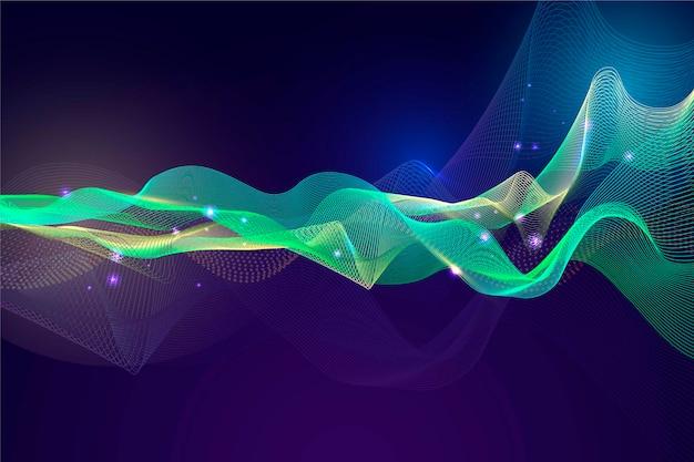 Design de papel de parede colorido onda equalizador