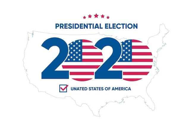 Design de papel de parede da eleição presidencial dos eua em 2020