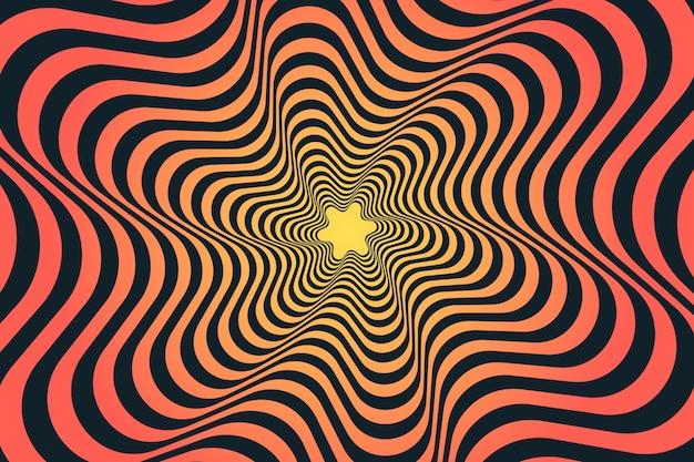Design de papel de parede de ilusão de ótica psicodélica