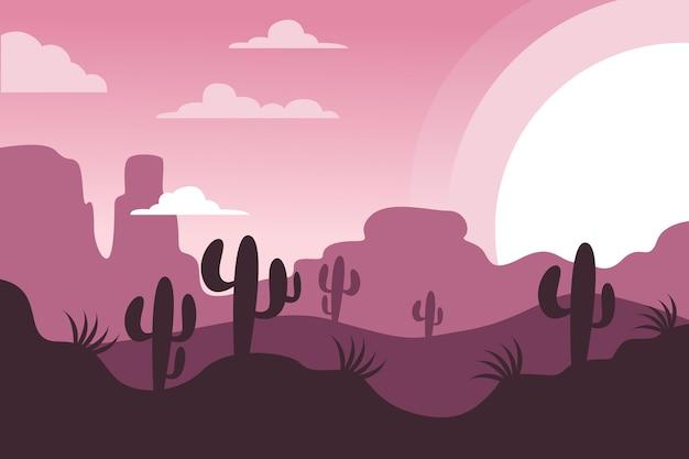 Design de papel de parede de paisagem do deserto