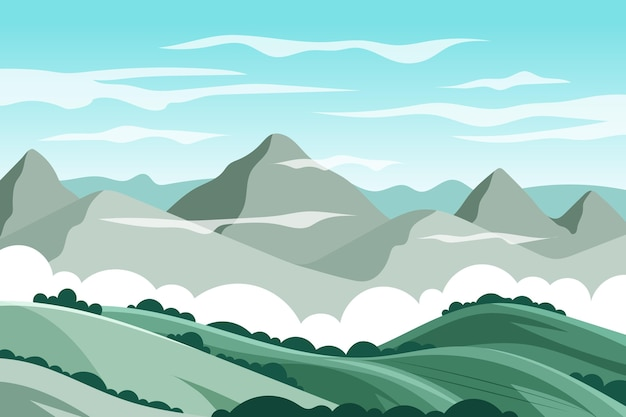 Design de papel de parede de paisagem natural