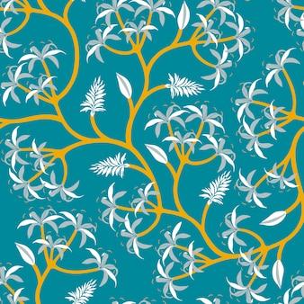 Design de papel de parede de ramo de planta natureza
