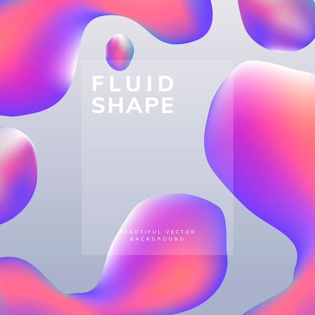 Design de papel de parede fluido gradiente