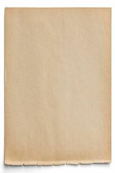 Design de papel pardo em branco