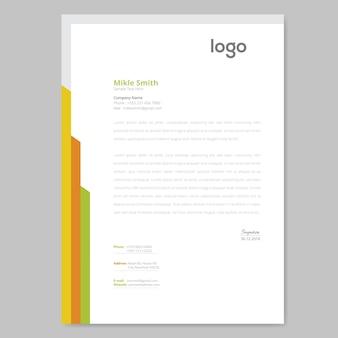 Design de papel timbrado colorido