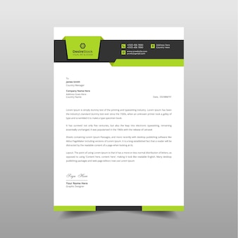 Design de papel timbrado comercial