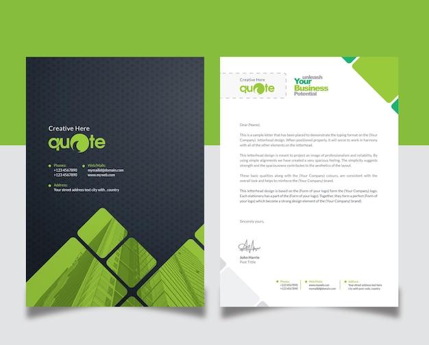 Design de papel timbrado criativo