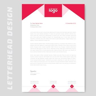 Design de papel timbrado vermelho