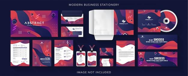 Design de papelaria de identidade de negócios corporativos