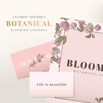 Design de papelaria floral