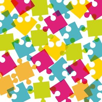 Design de peças de quebra-cabeça