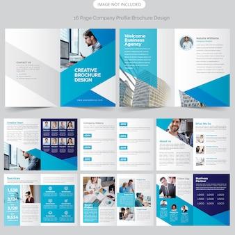 Design de perfil de empresa de 16 páginas