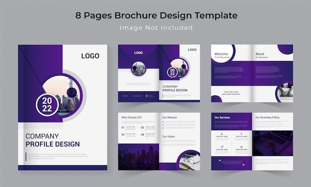 Design de perfil de empresa de negócios corporativos