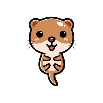 Design de personagens bonito lontra