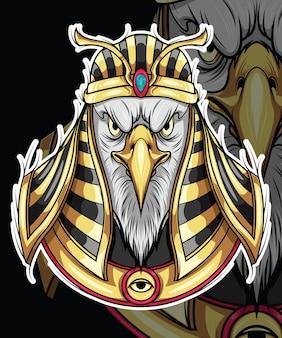 Design de personagens da mitologia do deus hórus do egito