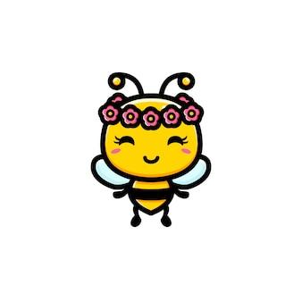 Design de personagens de abelha bonito